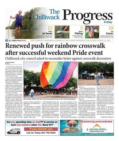 Chilliwack Progress, August 27, 2021