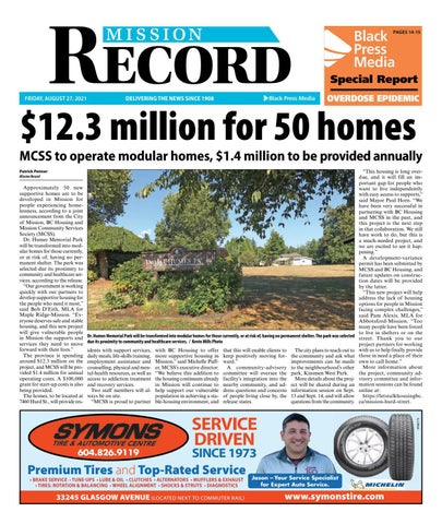 Mission City Record, August 27, 2021