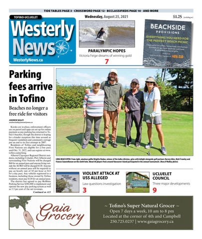 Tofino-Ucluelet Westerly News, August 25, 2021
