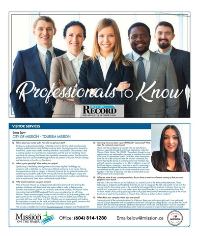 Professionals to Know