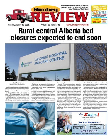 Rimbey Review, August 31, 2021