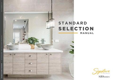 Signature Range | Standard Selection Manual | October 2021