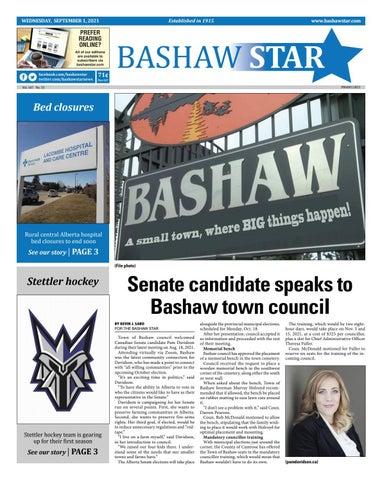 Bashaw Star, September 1, 2021