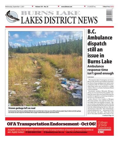 Burns Lake Lakes District News, September 1, 2021