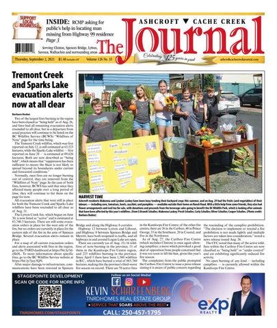 Ashcroft Cache Creek Journal, September 2, 2021