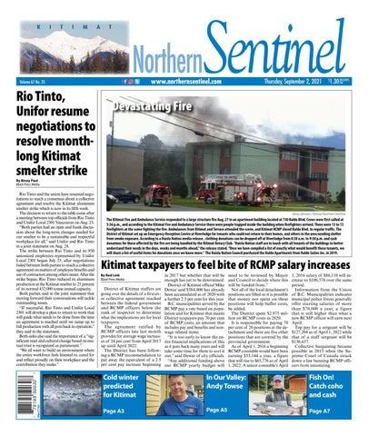 Kitimat Northern Sentinel/Northern Connector, September 2, 2021