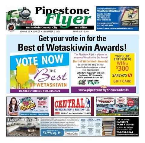 Wetaskiwin/Millet Pipestone Flyer, September 2, 2021
