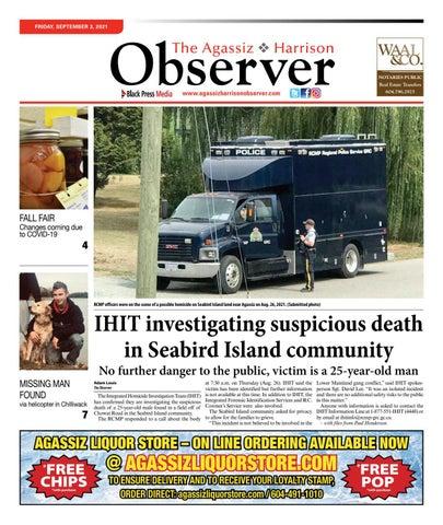 Agassiz Observer, September 3, 2021