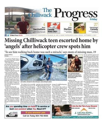 Chilliwack Progress, September 3, 2021