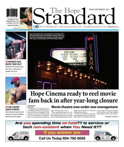 Hope Standard, September 3, 2021