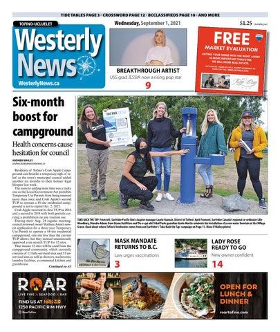 Tofino-Ucluelet Westerly News, September 1, 2021