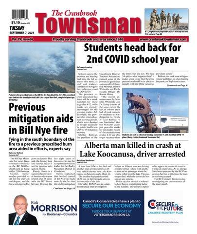Cranbrook Daily Townsman, September 7, 2021