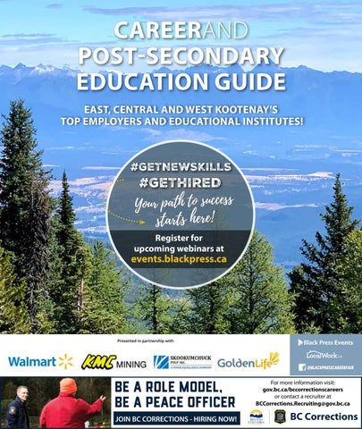 East, Central and West Kootenay Career and Post-Secondary Education Guide 2021