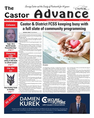 Castor Advance, September 9, 2021