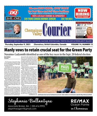 Chemainus Valley Courier, September 9, 2021