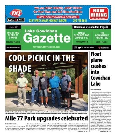 Lake Cowichan Gazette, September 9, 2021