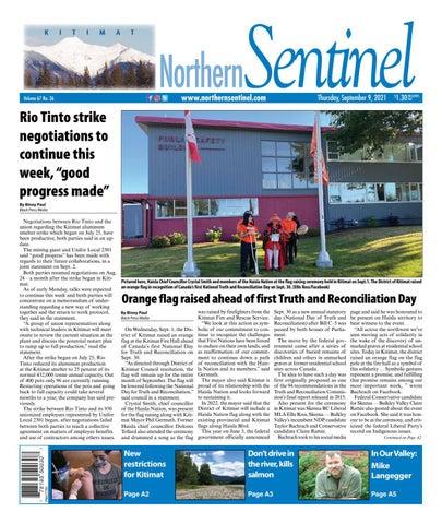 Kitimat Northern Sentinel/Northern Connector, September 9, 2021