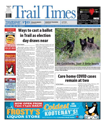 Trail Daily Times/West Kootenay Advertiser, September 9, 2021
