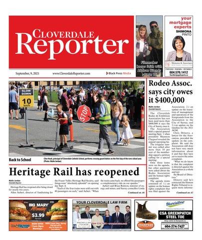 Cloverdale Reporter, September 9, 2021