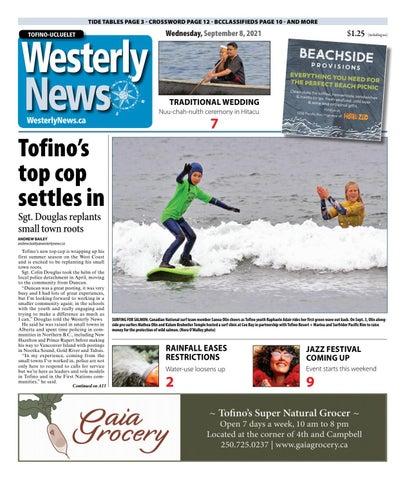 Tofino-Ucluelet Westerly News, September 8, 2021