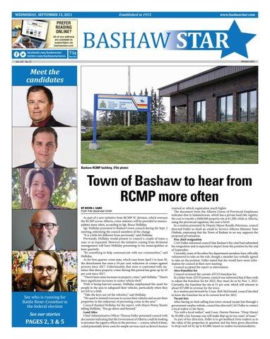 Bashaw Star, September 15, 2021