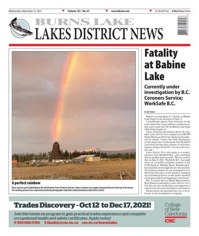Burns Lake Lakes District News, September 15, 2021