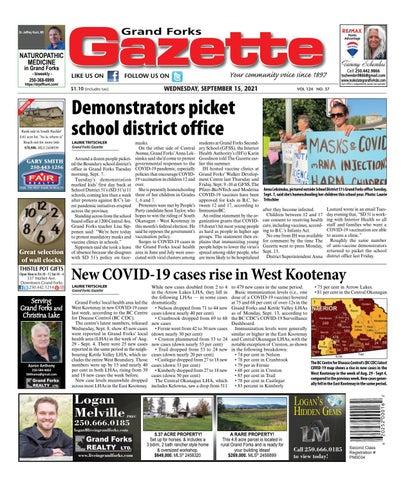 Grand Forks Gazette/West Kootenay Advertiser, September 15, 2021