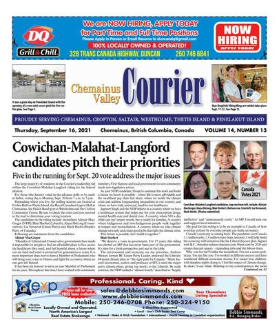 Chemainus Valley Courier, September 16, 2021
