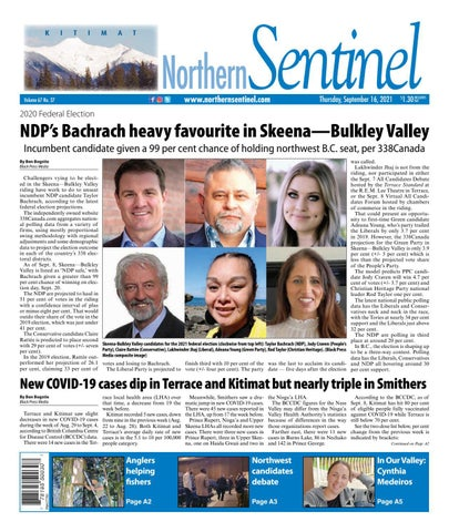 Kitimat Northern Sentinel/Northern Connector, September 16, 2021