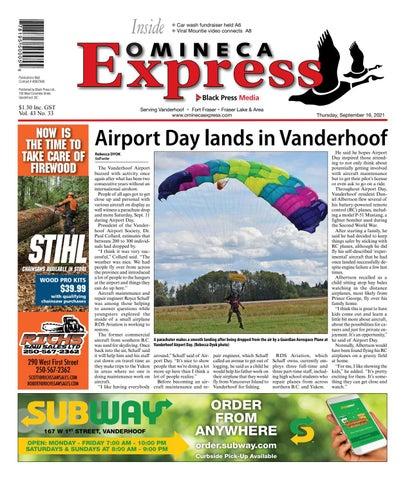 Vanderhoof Omineca Express/Stuart Nechako Advertiser, September 16, 2021