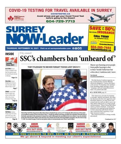 Surrey Now Leader, September 16, 2021
