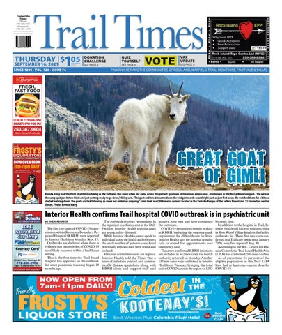 Trail Daily Times/West Kootenay Advertiser, September 16, 2021