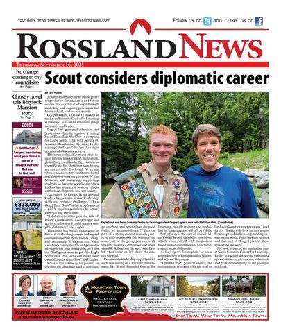 Rossland News/West Kootenay Advertiser, September 16, 2021