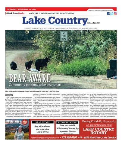 Lake Country Calendar, September 16, 2021