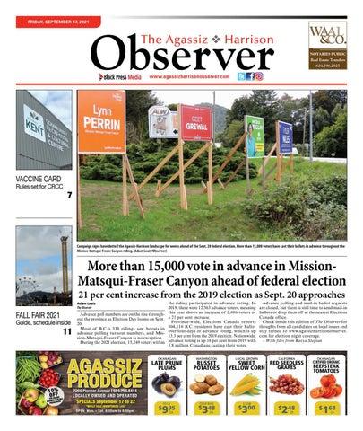 Agassiz Observer, September 17, 2021