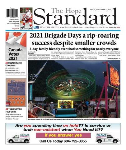 Hope Standard, September 17, 2021