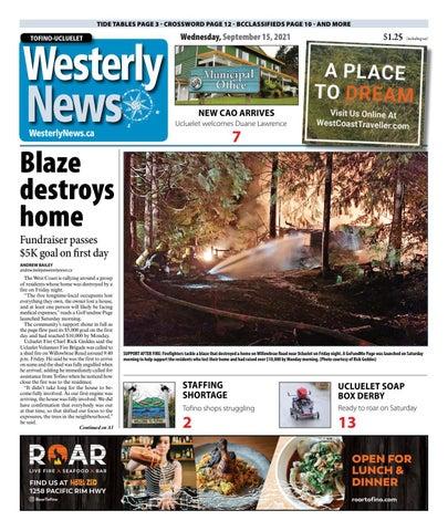 Tofino-Ucluelet Westerly News, September 15, 2021