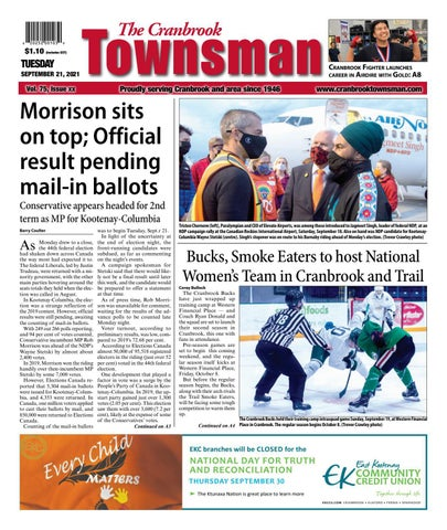 Cranbrook Daily Townsman, September 21, 2021