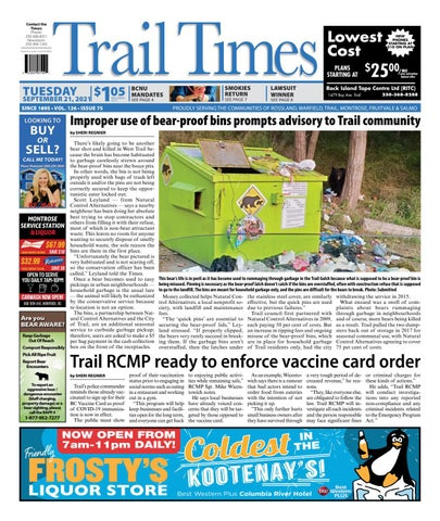 Trail Daily Times/West Kootenay Advertiser, September 21, 2021