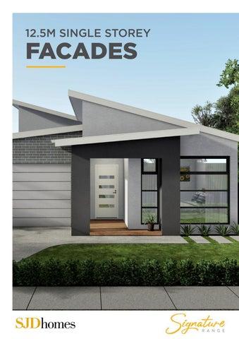 SJD Homes | Signature Range | 12.5M Single Storey Facades