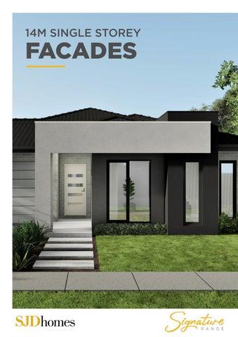 SJD Homes | Signature Range | 14M Single Storey Facades