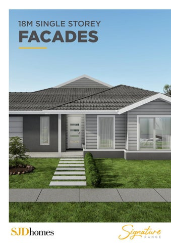 SJD Homes | Signature Range | 18M Single Storey Facades