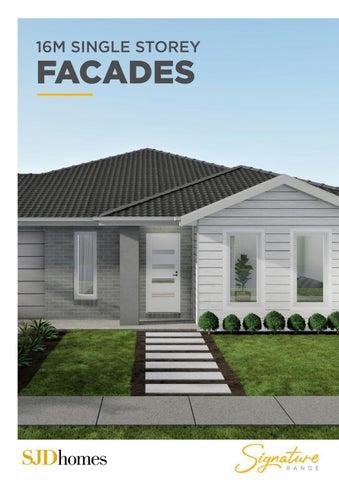 SJD Homes | Signature Range | 16M Single Storey Facades