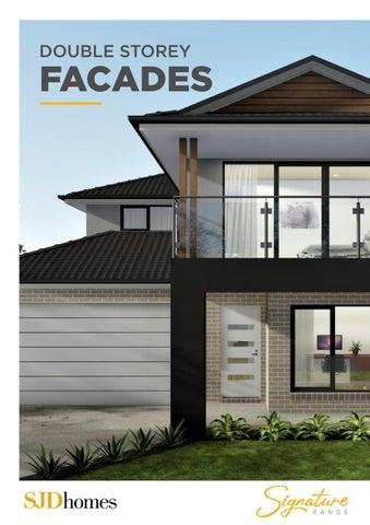SJD Homes | Signature Range | Double Storey Facades