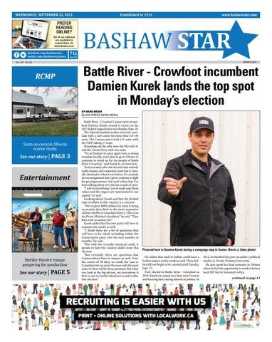 Bashaw Star, September 22, 2021