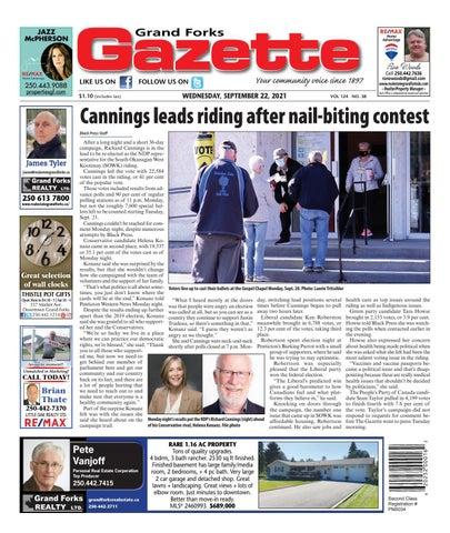 Grand Forks Gazette/West Kootenay Advertiser, September 22, 2021