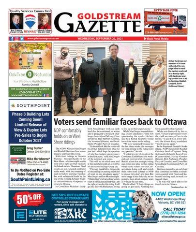 Goldstream News Gazette, September 22, 2021