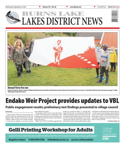 Burns Lake Lakes District News, September 22, 2021