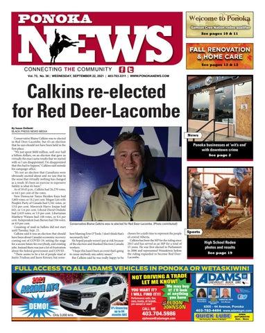 Ponoka News, September 22, 2021