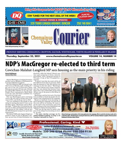 Chemainus Valley Courier, September 23, 2021